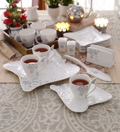 Ceradeco Ocassional Platters Bone China 200 Ml - Set Of 17