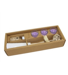 Ceramic Lavender Fields Reed Diffuser With Scented Glass Candles