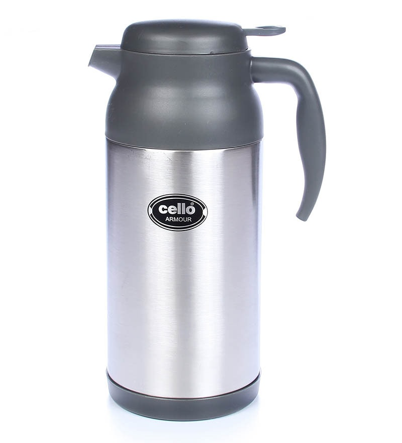 Cello Armour Stainless Steel Flask (2000 Ml) Grey