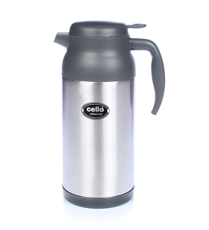 Cello Armour Stainless Steel Flask (800 Ml) Grey