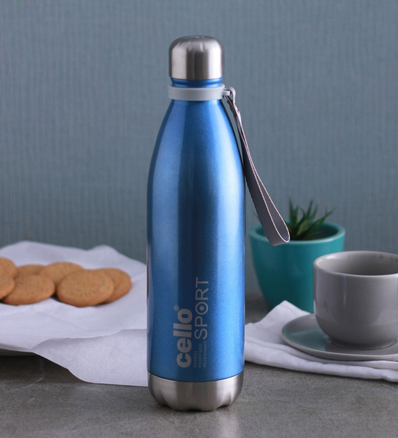 Cello Scout Blue Stainless Steel 750 ML Vacuum Insulated Water Flask