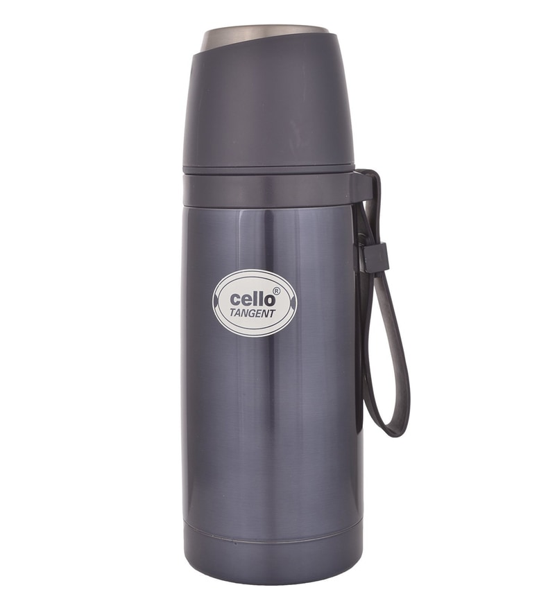 Cello Tangent Grey Stainless Steel 350 ML Thermos Flask