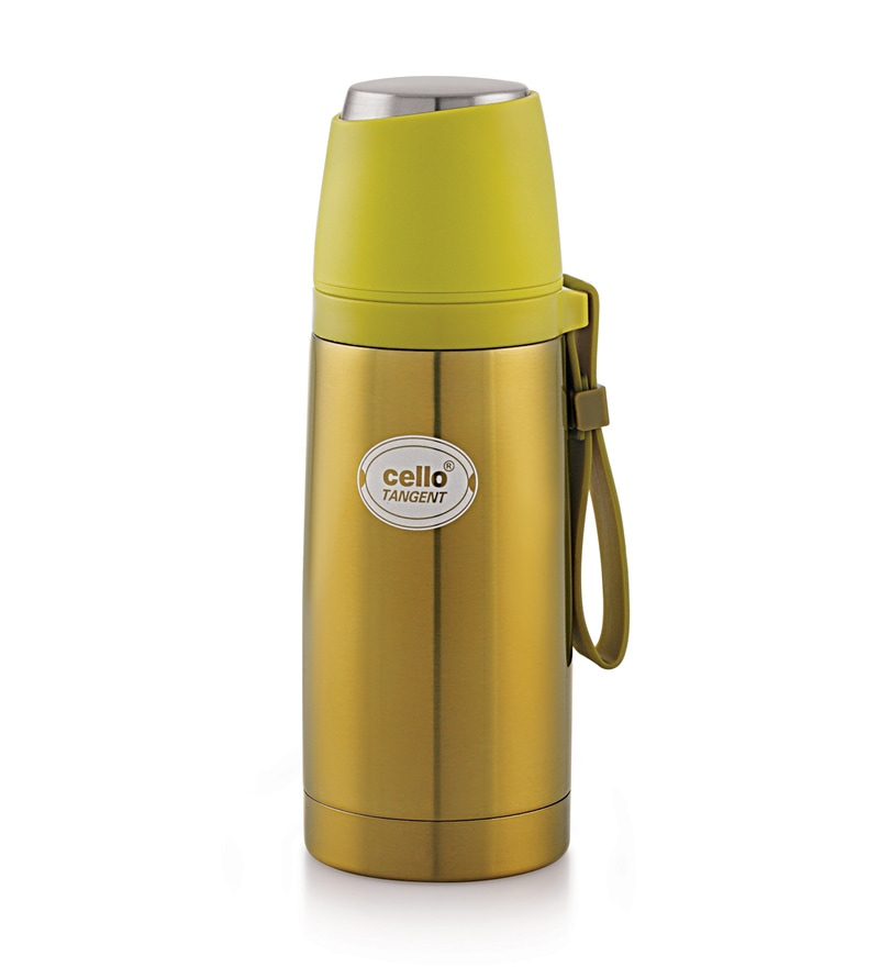 Cello Tangent Yellow Stainless Steel 350 ML Thermos Flask