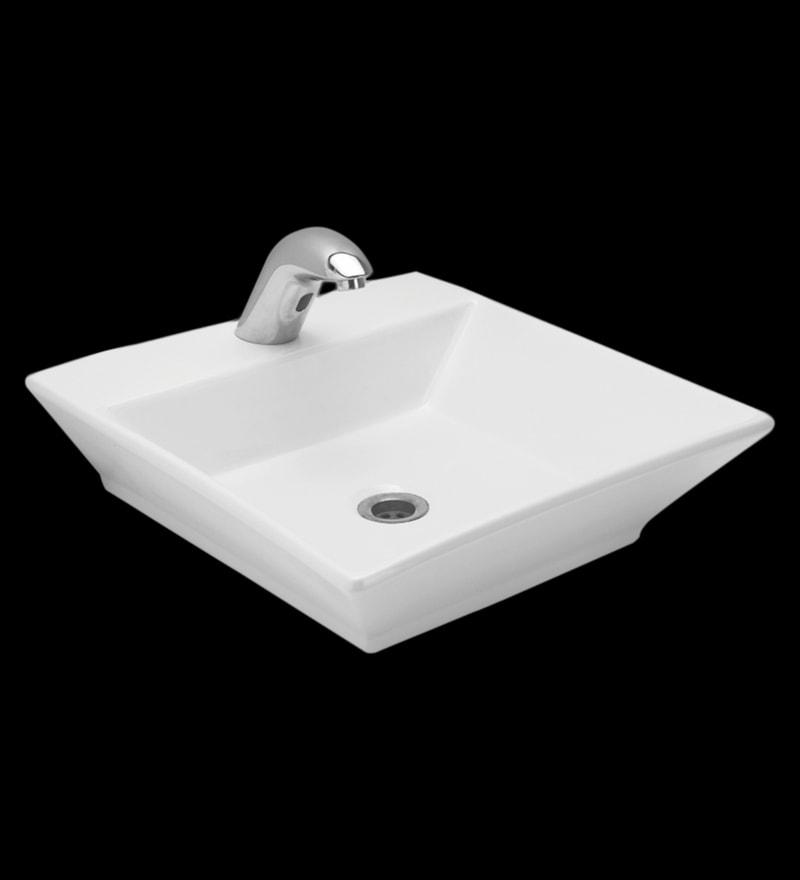 Cera Caden White Ceramic Table Top Wash Basin