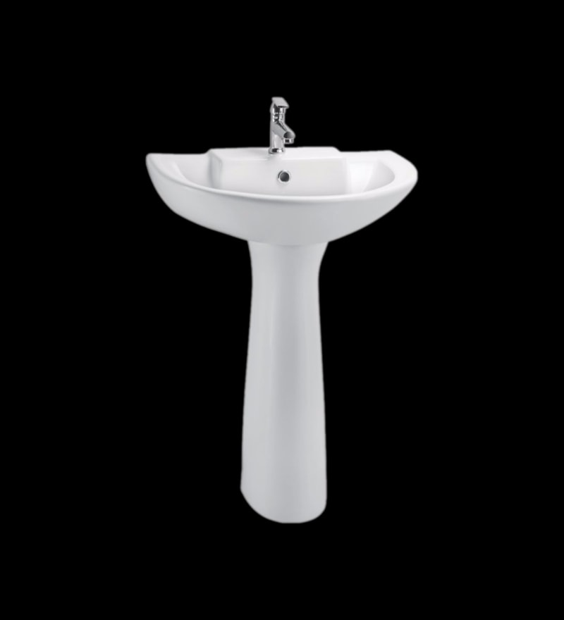 Cera Calibre White Ceramic Wash Basin with Pedestal