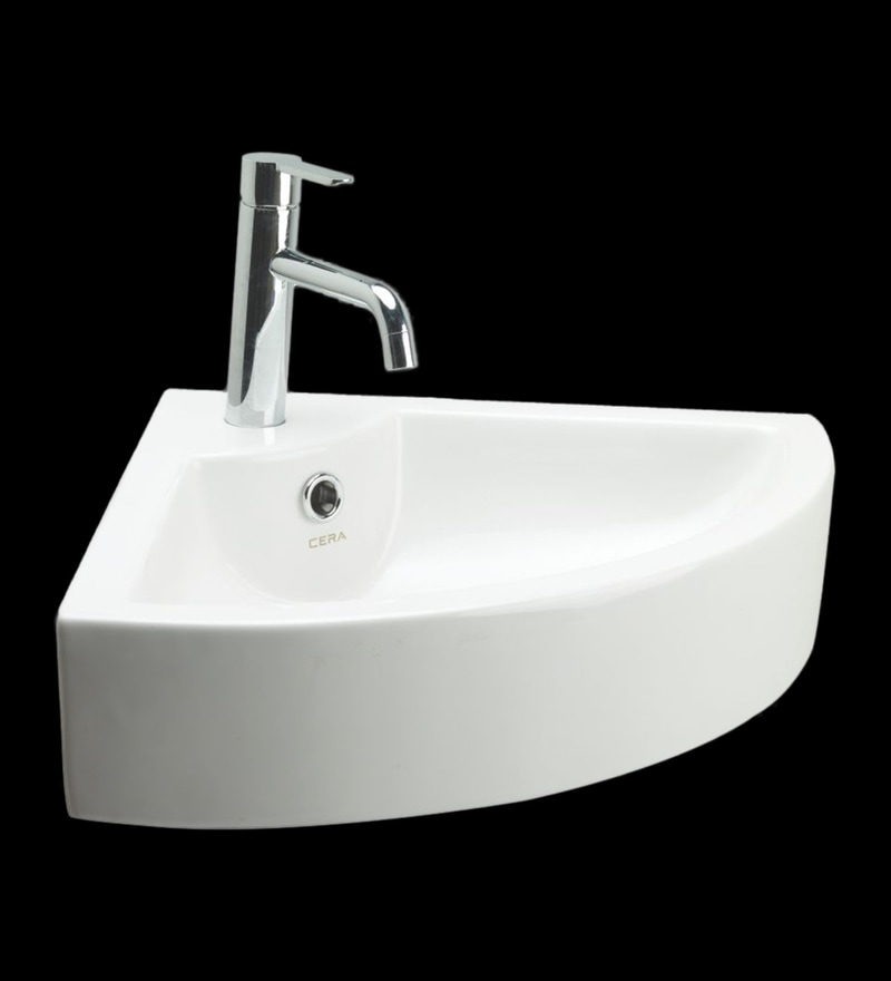 Cera Callis White Ceramic Wash Basin