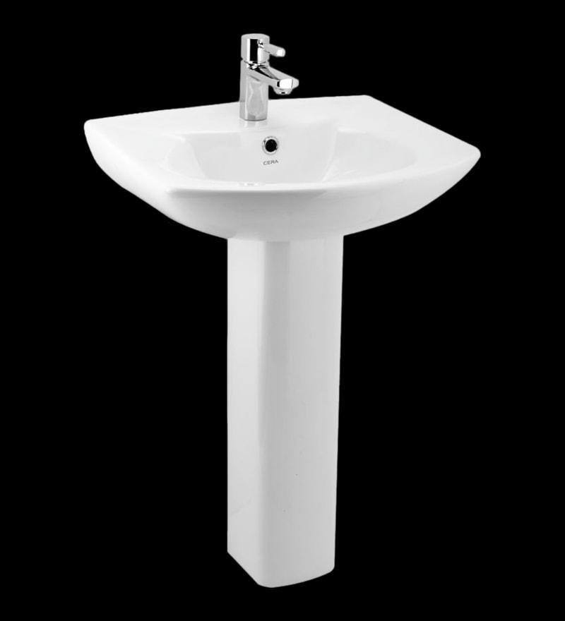 Cera Calvina White Ceramic Wash Basin without pedastal
