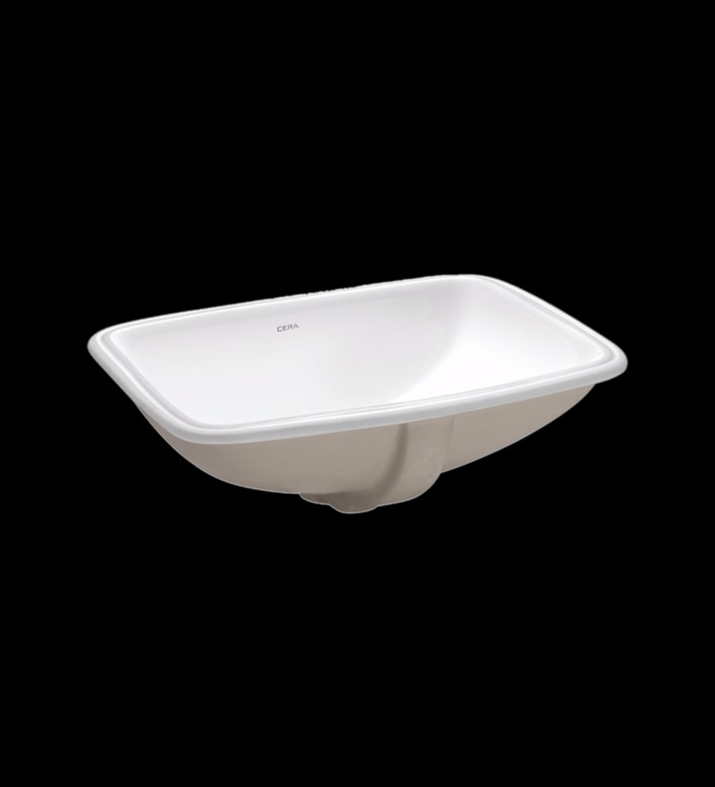 Cera Camry White Ceramic Wash Basin