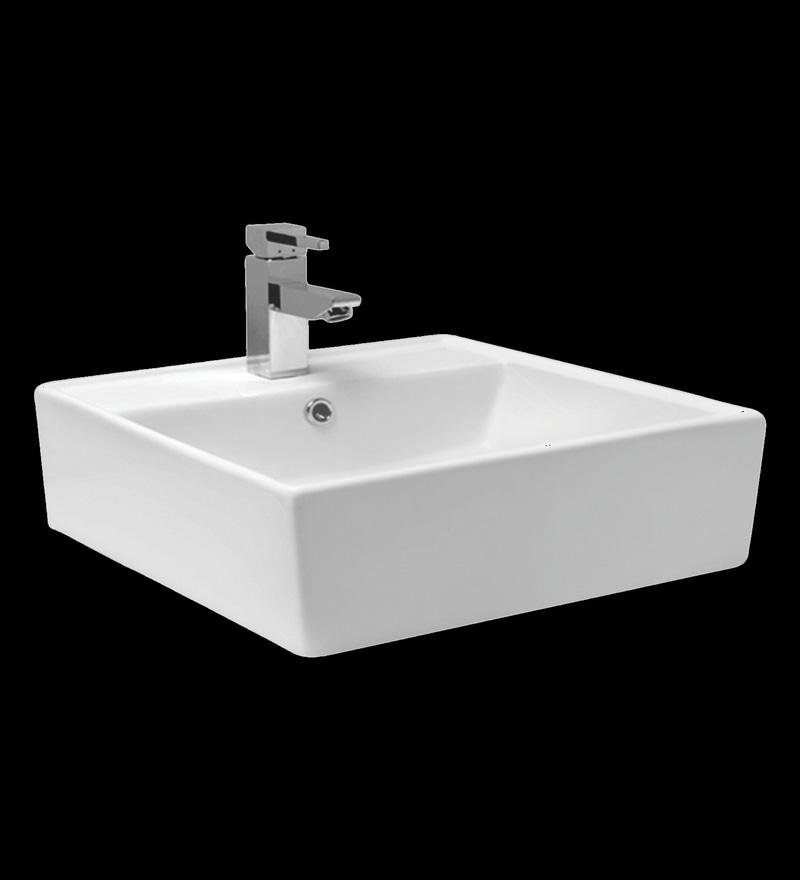 Superior Cera Casket White Ceramic Table Top Wash Basin