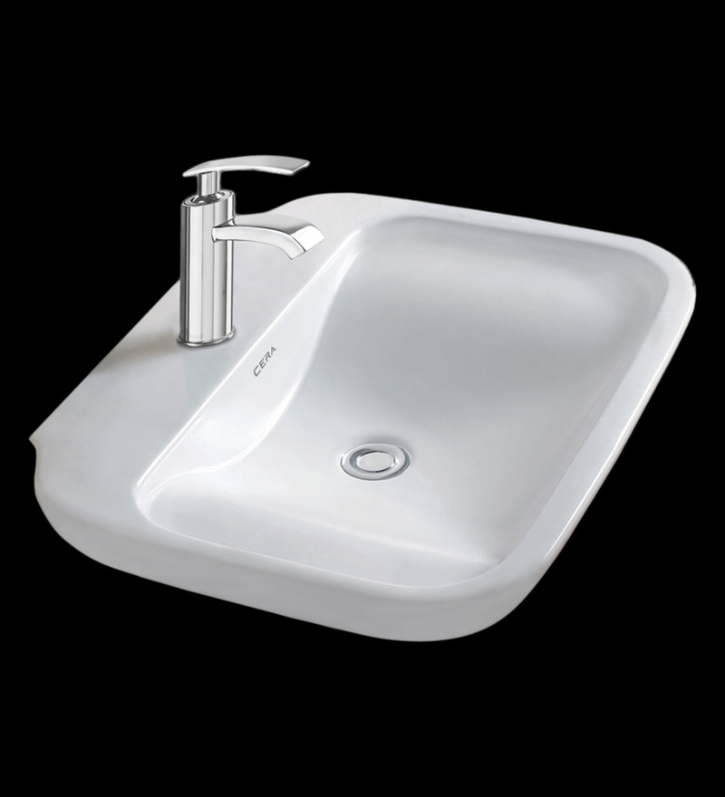 Cera Charmis White Ceramic Wash Basin