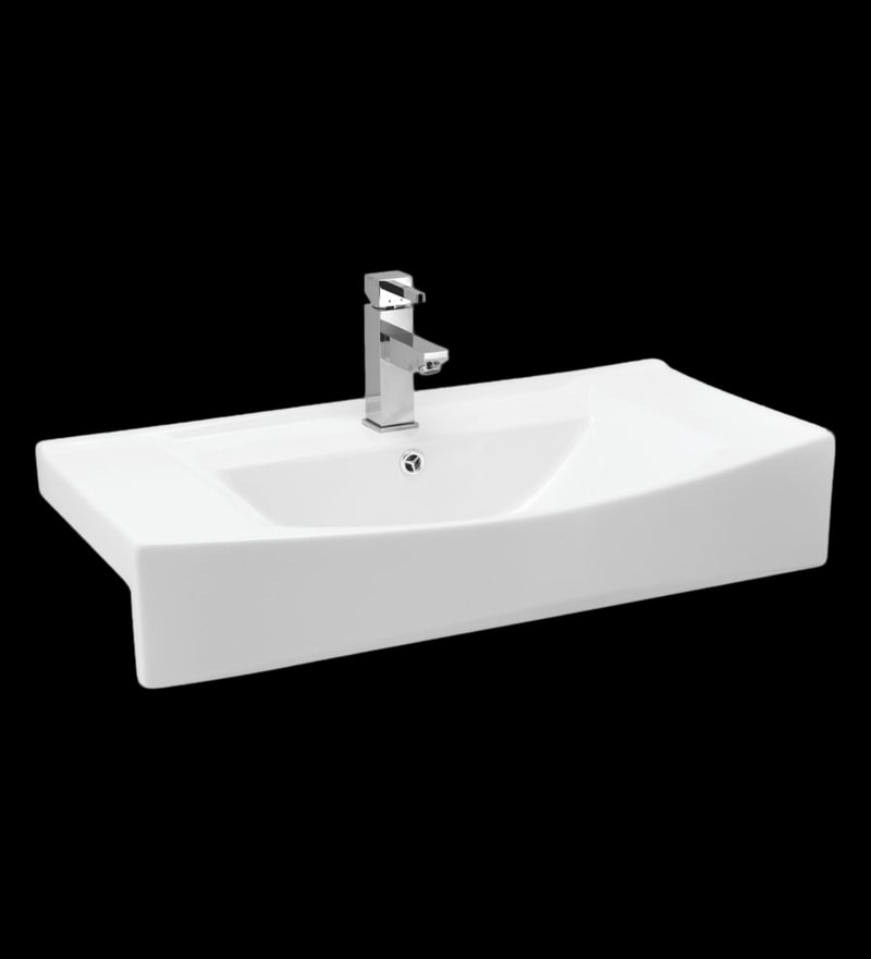 Cera Cheryl White Ceramic Wash Basin