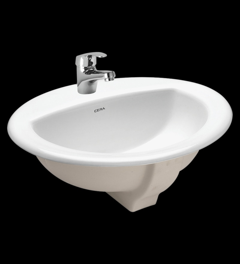 Cera Clair White Ceramic Wash Basin