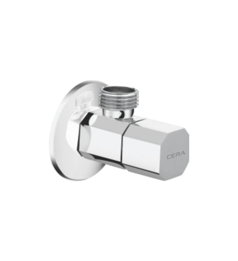 Cera Cm 108 Chrome Plated Brass Angle Cock with Wall Flange