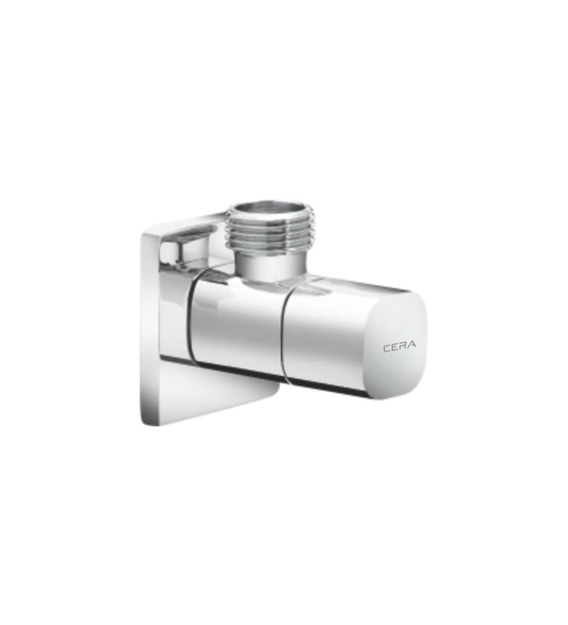 Cera Cm 108B Chrome Plated Brass Angle Cock with Wall Flange