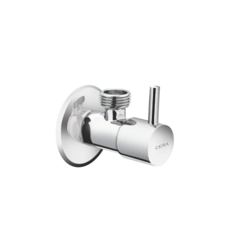 Cera Cm 108C Chrome Plated Brass Angle Cock with Wall Flange