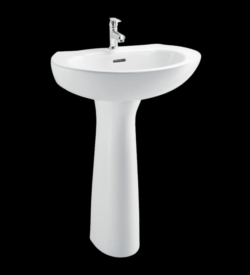 Cera Cognac White Ceramic Wash Basin without pedastal