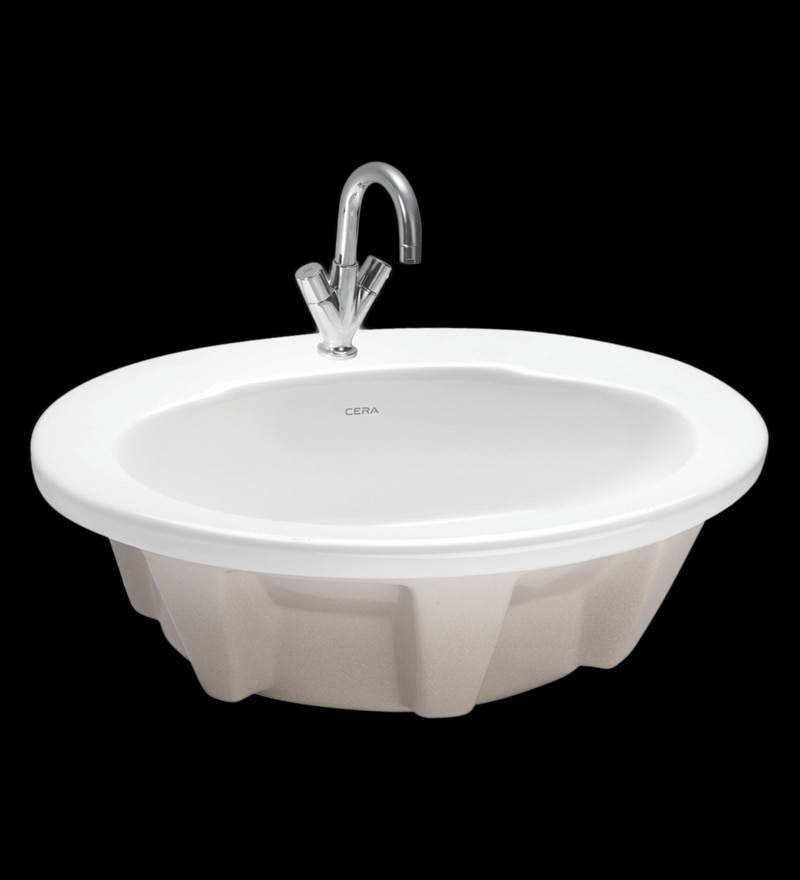 Cera Comet White Ceramic Wash Basin
