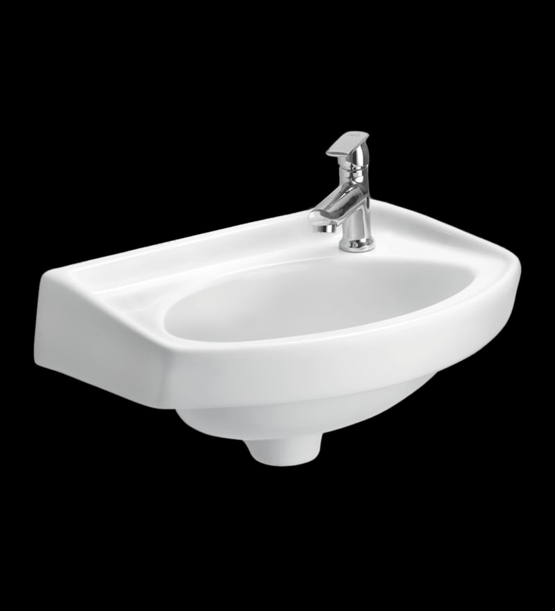 Cera Cozy White Ceramic Wash Basin