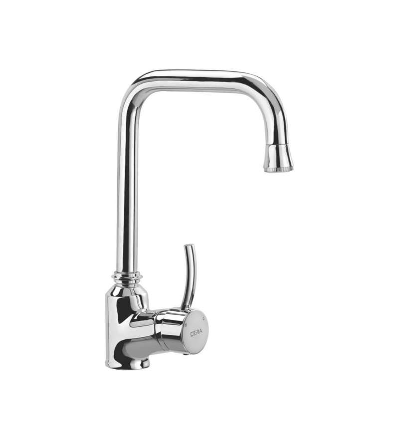 Cera Crayon Quarter Turn Qc 820 Chrome Plated Brass Single Lever Sink Mixer