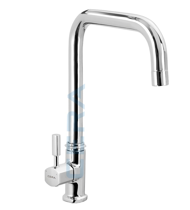 Cera Gayle Chrome Brass Sink Cock with Aerator (Model: F1014311)