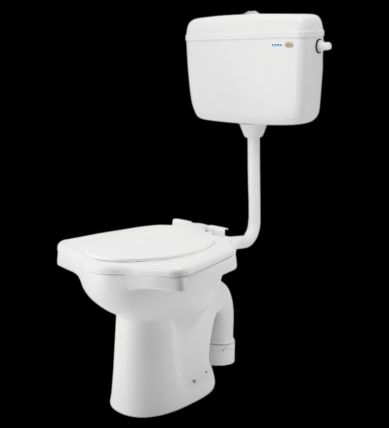 Cera Universal White Ceramic Anglo Indian Water Closet