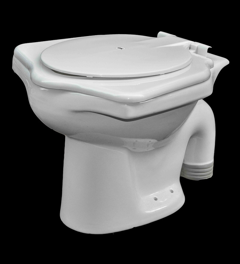 Cera Universal White Ceramic Water Closet  with seat cover