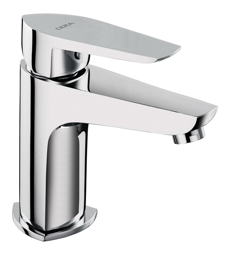 Cera Valentina Silver Brass Single Lever Basin Mixer (Model: F1013451 )