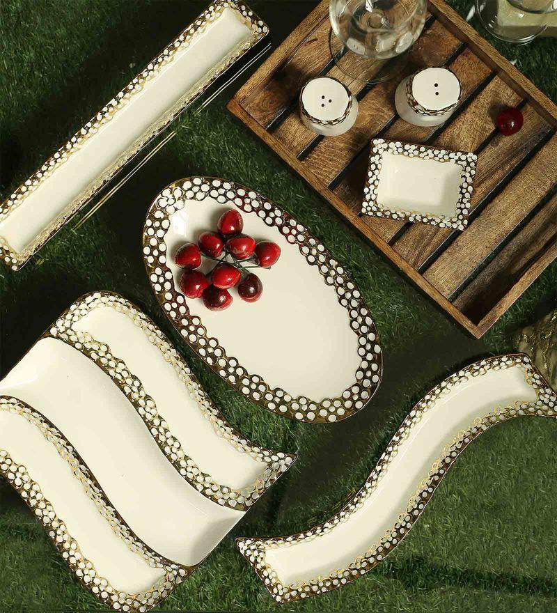 Ceradeco Ceramic Platter Set - Set of 7