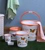 Cello Blossom Plastic Orange Bucket Set - Set of 5
