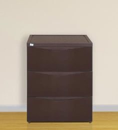 Chester Series 42 Three Drawer Storage Cabinet In Brown Colour