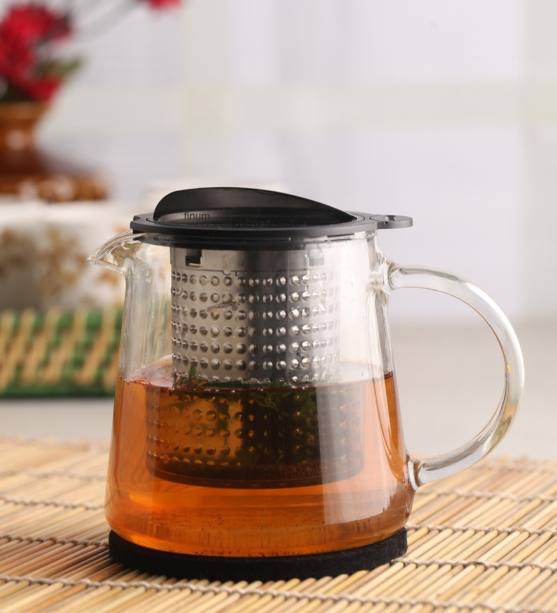Chado Finum Borosilicate Glass 800 ML Tea Pot with Lid & Infuser