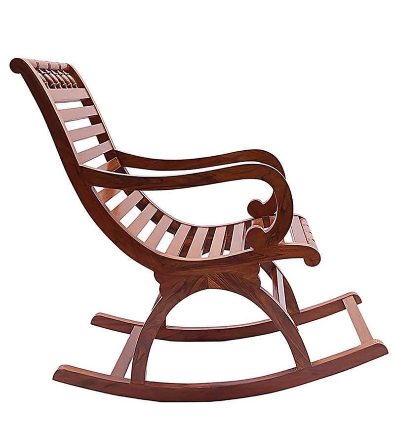 Buy Chelmsford Teak Wood Rocking Chair In Composite Teak