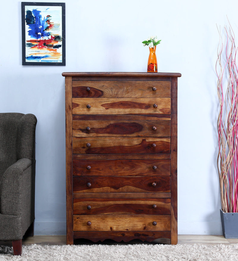 Kevala Chest of Eight Drawer in Provincial Teak Finish by Mudramark
