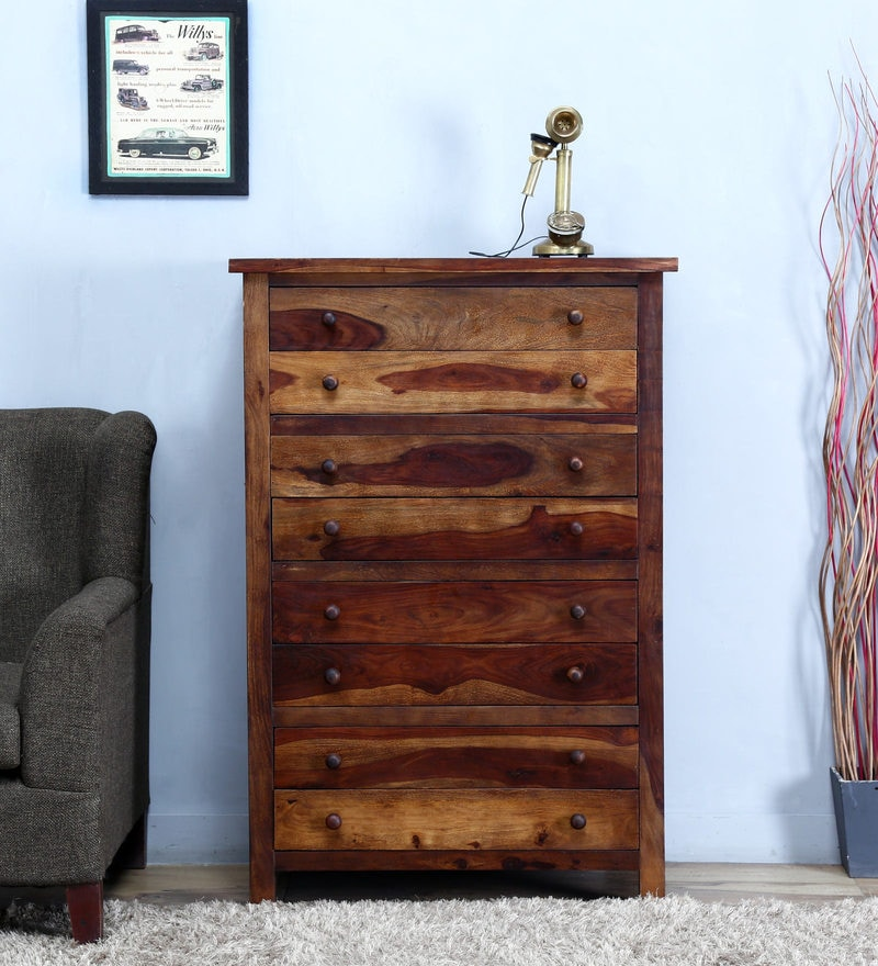Chest of Eight Drawer in Provincial Teak Finish by Woodsworth