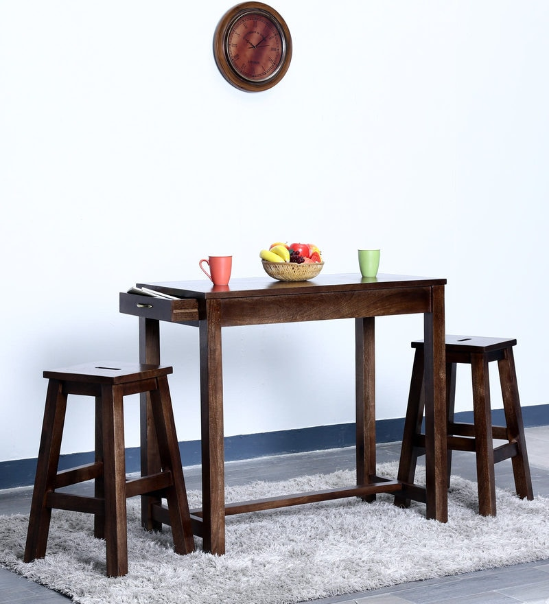 Chewelah Two Seater Bar Set in Provincial Teak Finish by Woodsworth