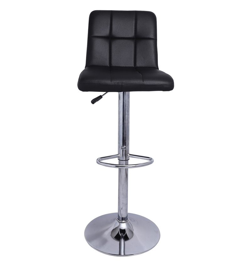 Chexton Bar Stool In Black Colour By Sgs Industries