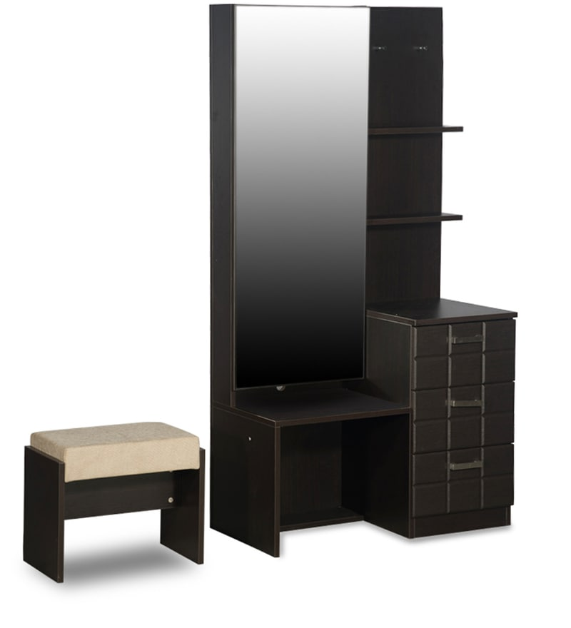 Buy Chocolat Premium Dressing Table With Stool In Cola