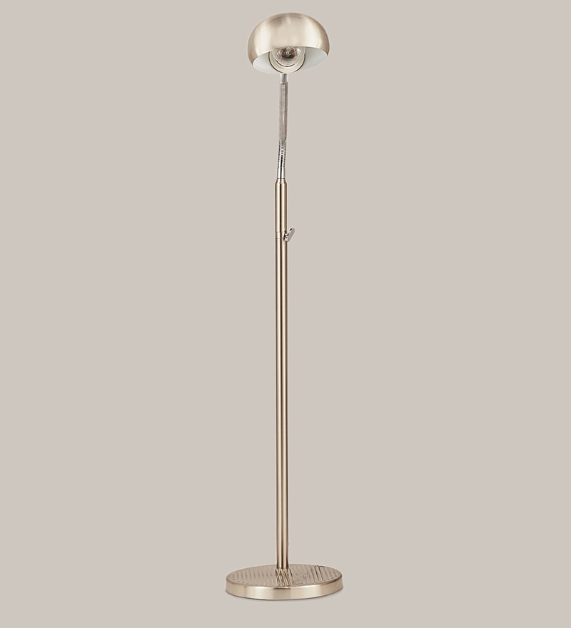 Chrome Mild Steel Floor Lamp by Kapoor E Illuminations