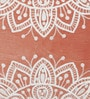 Chandrika Red Velvet 18 x 18 Inch Sunset Medallion Cushion Cover