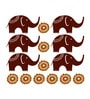 Polyvinyl Films Pigmented Elephant Motif Wall Decal by Chipakk