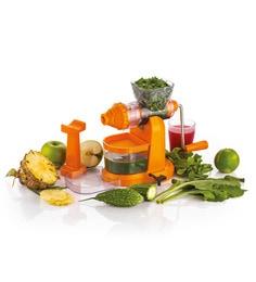 Cierie Deluxe Jumbo Fruit & Vegetable Premium Manual Hand Juicer Mixer Grinder With Steel Handle & Waste Collector