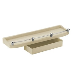 Cipla Plast Double  Ivory PPCP 19 X 5 X 3 Inch Bathroom Shelf