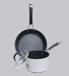 Circulon Momentum Non-Stick + Stainless Steel 3-Piece Cookware Set