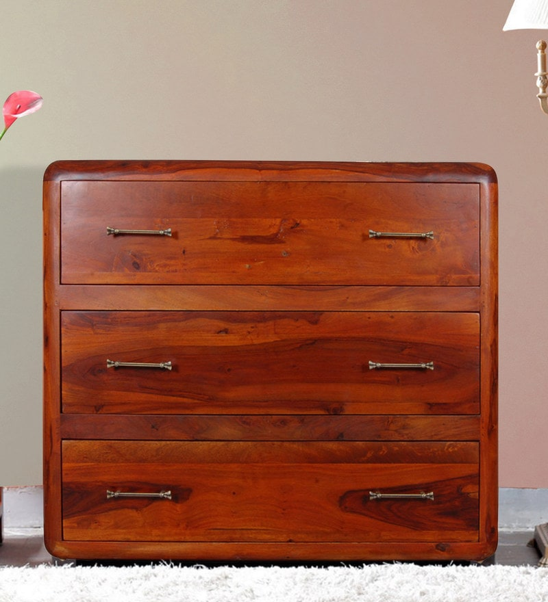 Cincinnati Chest of Three Drawers in Honey Oak Finish by Woodsworth