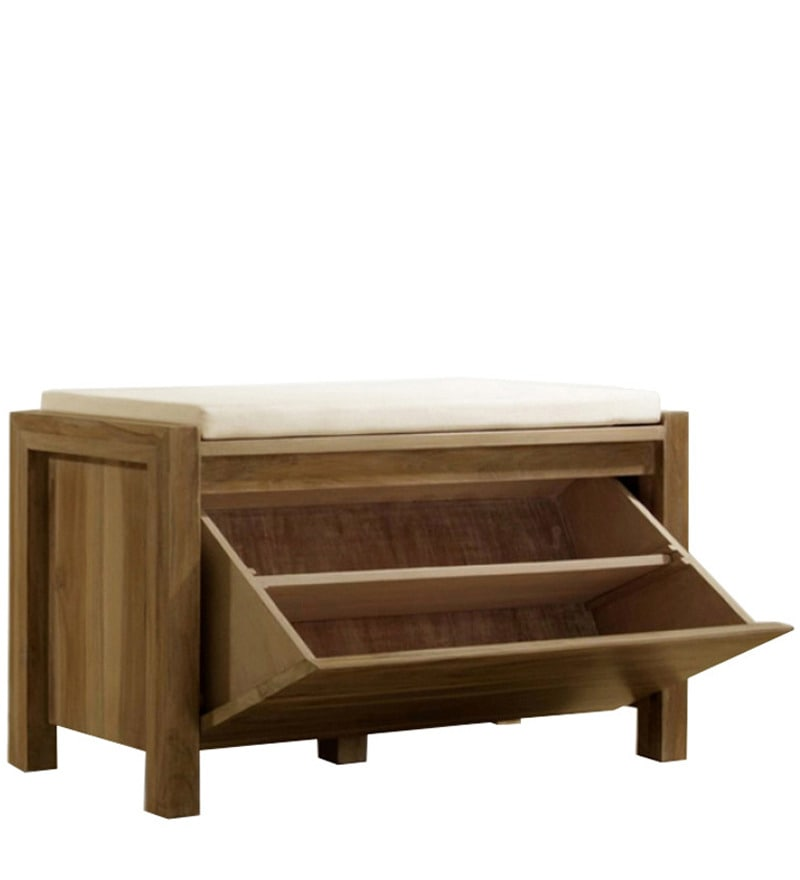 Cinnamon Mango Wood Shoe Rack And Bench By Mudramark