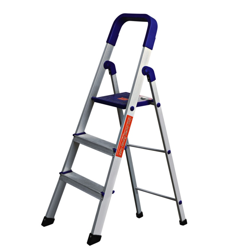 Cipla Plast Folding Aluminium Ladder - Home Pro 3 Steps