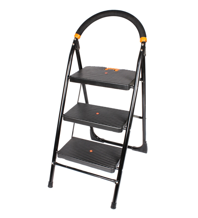 Cipla Plast Milano PPCP & Steel 3 Steps 4 FT Wide Steps Folding Ladder