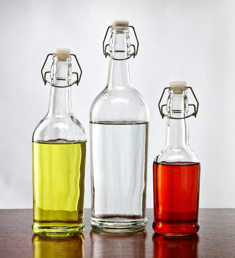 Circleware Hermetic Glass Bottle Set - Set of 3