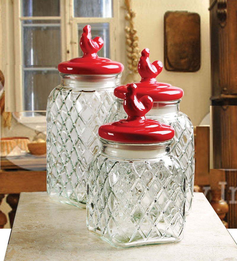 Circleware Pullet Square Canister - Set of 3
