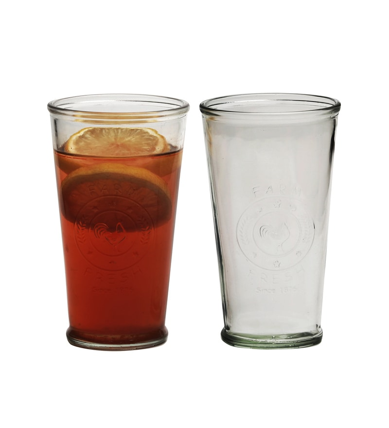 Circleware Ranch Glass 473 ML Tumblers - Set of 4